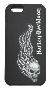 Harley-Davidson® Men's iPhone 6 Shell, 2-IN-1 Rugged Flaming Skull Case 07724 - C