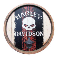 Harley-Davidson® Skull Tire Mark Bottle Opener Wooden Sign CU118B-BO-SCGPX4-H/T