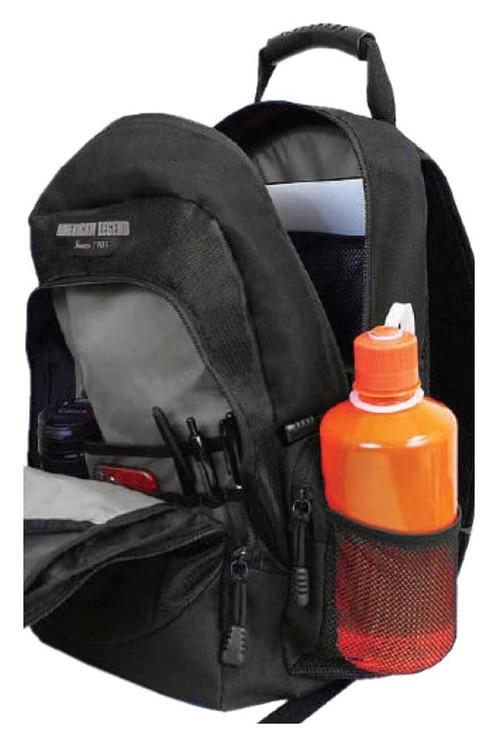 Harley-Davidson® Bar & Shield Day Backpack, Gray Logo, Black BP1968S-GRYBLK