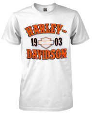 Harley-Davidson® Men's T-Shirt, Traditional H-D Short Sleeve Tee, White 30291790 - A