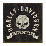 Harley-Davidson® Willie G. Skull HD Motorcycles Wood Sign, 18x18in W10-WILLG-HARL