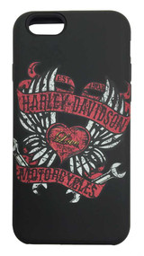 Harley-Davidson® Women's iPhone 6 Shell, 2-IN-1 Rugged Winged Heart Case 07735 - C