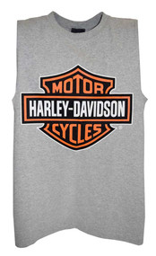 Harley-Davidson® Mens Bar & Shield Tank Top Muscle Gray T-Shirt 30296626 - A