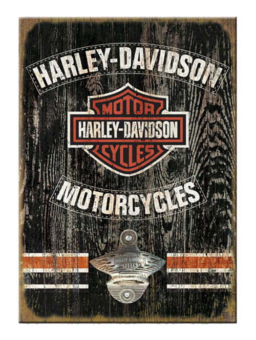 Harley-Davidson® 11 x 16 Matchbook Bottle Opener Wooden Sign MB31-BO-CCGPX33-HA