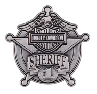 Harley-Davidson® Sheriff Antique Nickel Pin, 1-9/16'' W x 1-1/2'' H P1264064