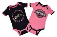 Harley-Davidson® Baby Girls' Creeper Set, Infant Grandma Rides a Harley 3009503
