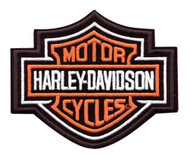 Harley-Davidson® Bar & Shield Patch Medium Orange 5-5/8'' W x 4-5/8'' H EMB302383