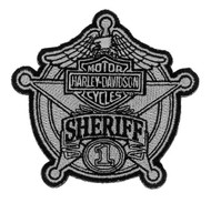 Harley-Davidson® Sheriff Silver Patch, Small 3-15/16'' W x 3-3/4'' H EM1264752