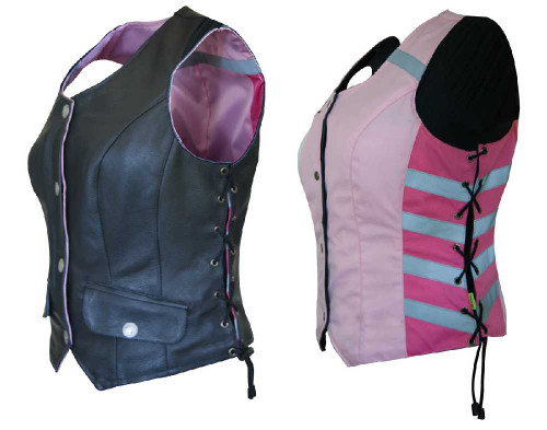 Missing Link Women's G2 D.O.C. Reversible Leather Safety Vest Hi-Viz Pink G2RVWP