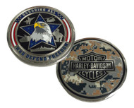 Harley-Davidson® Honoring Freedom Military Challenge Coin, Silver 8003845