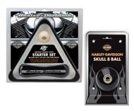 Harley-Davidson® Starter Set: Rack, Cue, 8 Ball & Table Brush HDL-10147/HDL-11151