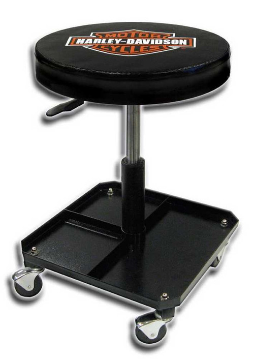 Harley-Davidson® Bar & Shield Shop Stool Swivel & Adjusted Seat Height P4766