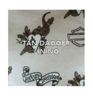 Harley-Davidson® Women's Jacquard Classique Leather Bag, Tan/Black TJ8927J-TANBLK