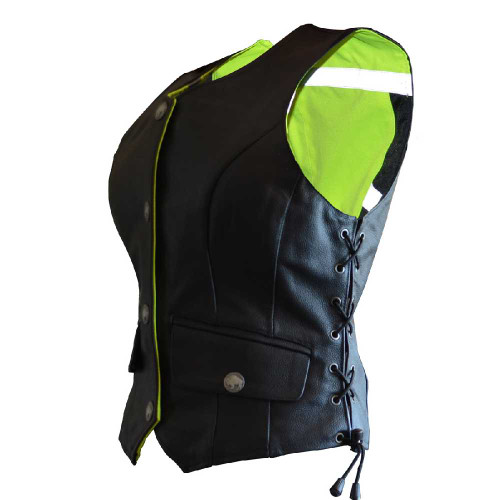 Missing Link Women's G2 D.O.C. Reversible Safety Vest (Black/HiViz Green) G2RVWG