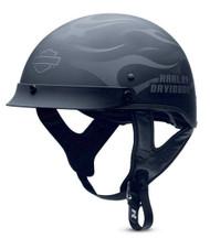 Harley-Davidson® Men's Ghost Flames Hybrid Ultra-Light Half Helmet 98242-13VM - A