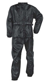 Nex Gen Women's Black/Gray Motorcycle Rain Suit Water Resistant SH2215L