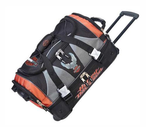 Harley-Davidson® 21 inch Carry-On Duffel, Lightweight Wheeled Bag 99622-RUST/BLK - D