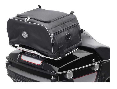 Harley-Davidson® Bar & Shield Zippered Collapsible Rack Bag Black 93300009