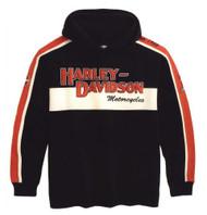 Harley-Davidson® Men's Prestige Hooded Sweatshirt Black & Orange 99047-09VM