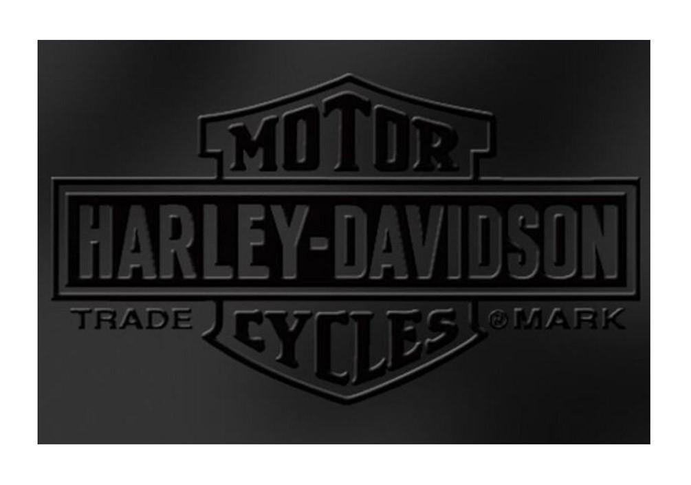 Harley Davidson 174 Embossed Bar Amp Shield Stainless Steel