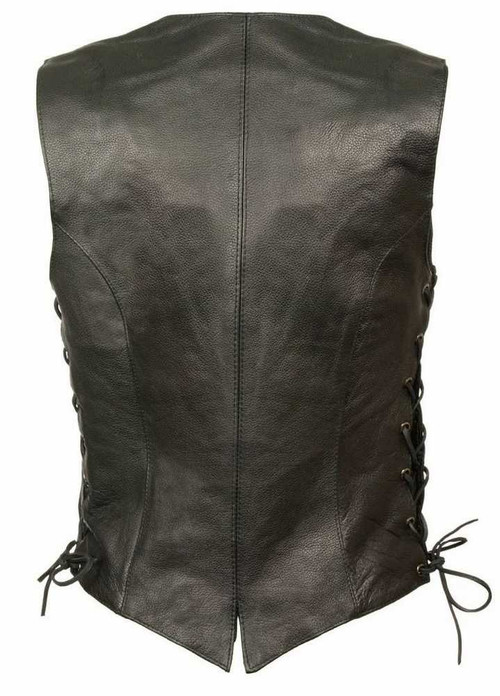 Milwaukee Leather Women's Classic Side Lace Vest w/ Buffalo Snaps ML1254 - A