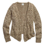 Harley-Davidson® Women's Multi-Tone Cardigan Sweater, Woodsmoke. 96156-16VW