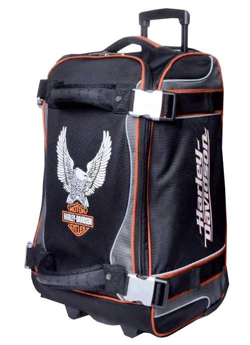Harley-Davidson® 21 Inch Luggage, Up-Wing Eagle Bar & Shield, Silver/Black 99321