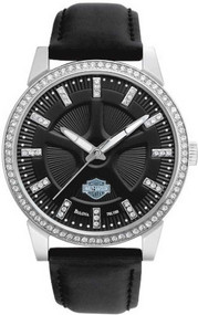Harley-Davidson® Women's Bulova Crystal Dress Wrist Watch 76L158
