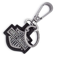 Harley-Davidson® Cut-out Bar & Shield Logo Key Chain Fob, Black 99444-06V