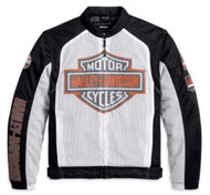 Harley-Davidson® Men's Bar & Shield Logo Mesh Jacket White 98232-13VM - A