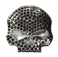 Harley-Davidson® Women's Studded Rhinestones Willie G Skull Pin, Black P1199303