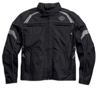 Harley-Davidson® Men's Medallion Reflective Riding Jacket, Black. 98082-15VM - A