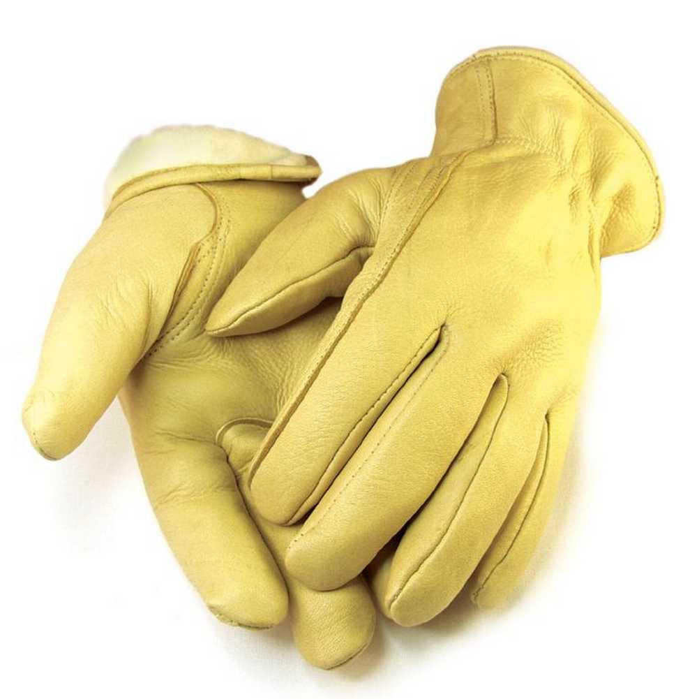 Mens deerskin gloves - Northstar Mens Full Grain Tan Deerskin Gloves Lined 40 Gram 3m Thinsulate 013t A