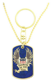 Harley-Davidson® Dog Tag, Freedom Is Not Free POW-MIA Chain/Key Chain 8002817 - A