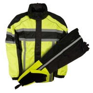 Nex Gen Men's Yellow/Black Motorcycle Rainsuit Water Resistant SH233113