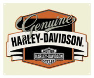 Harley-Davidson® Genuine H-D Banner Tin Metal Sign 14 x 17 Inch  2010241