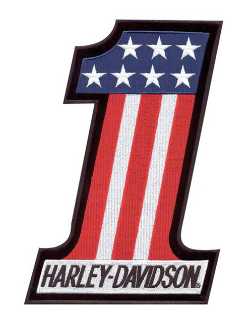 Harley-Davidson® #1 Red, White & Blue X-Small Patch EM227841