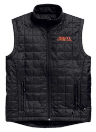Harley-Davidson® Men's Stimulate Heated Vest Jacket w/ 7 Volt, Black. 98557-15VM