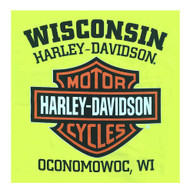 Harley-Davidson® Men's Elongated Bar & Shield Safety Green T-Shirt 30291737 - A