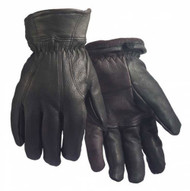 Northstar Unisex Grain Deerskin Fleece Lined Glove Flexible Thumb, Black. 911BK