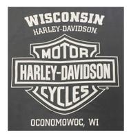 Harley-Davidson® Men's Short Sleeve Tee, Have Courage Patriotic Eagle, Charcoal - A
