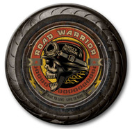 Harley-Davidson® 23 in Round 2 Piece Tire Skull Wooden Sign CU118A-AD-RW-HARL