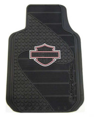 Harley-Davidson® Pink Bar & Shield Factory Front Floor Mats Set of 2 Black P1384P