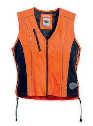 Harley-Davidson® Women's Hi-Vis Vest, Safety Reflective Orange 98289-14VW - A