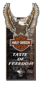 Harley-Davidson® Taste of Freedom Eagle Bottle Opener Sign, MB32-CU-BO-EGL-HAR
