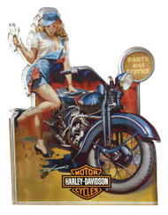 Harley-Davidson® Fix 'er Up Pin Up Lady Magnet, Hard Sided, 4 x 3 inches 8003883