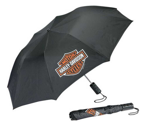 Harley-Davidson® Bar & Shield Compact Umbrella Black UMB302302