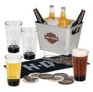 Harley-Davidson® Bar & Shield Party Bucket Pint Glasses Gift Set, HDL-18757