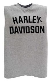 Harley-Davidson® Men's Heritage H-D Script Muscle Tee Tank Top, Gray 30296637 - A