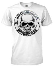 Harley-Davidson® Men's H-D Skull Badge Short Sleeve T-Shirt White 30298294 - A